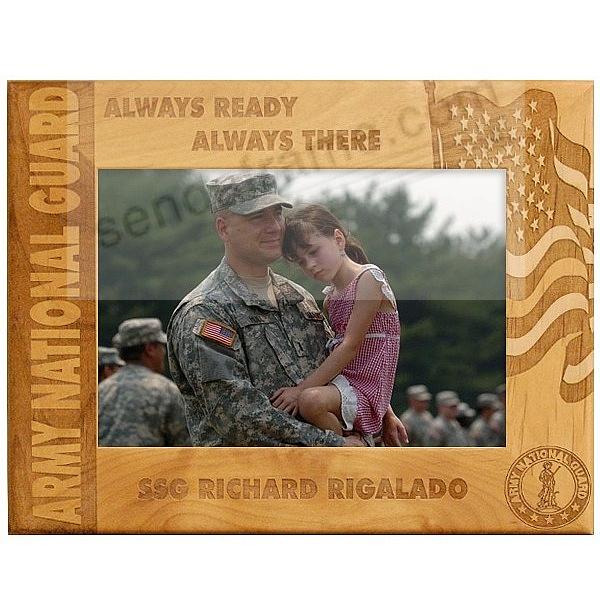 Celebrate an ARMY NATIONAL GUARD loved one with a special Personalized Keepsake frame