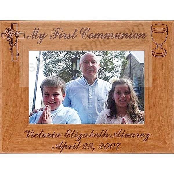 A Special FIRST COMMUNION keepsake frame - Personalized