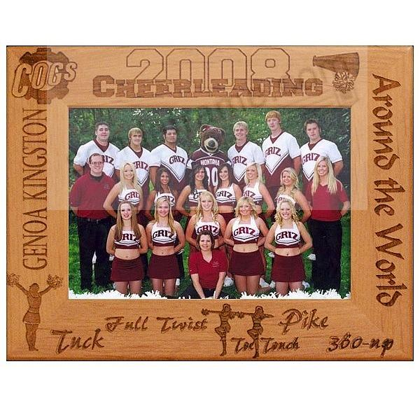 CHEERLEADERS need their own celebration frame.  We'll personalize one to make it a keepsake!