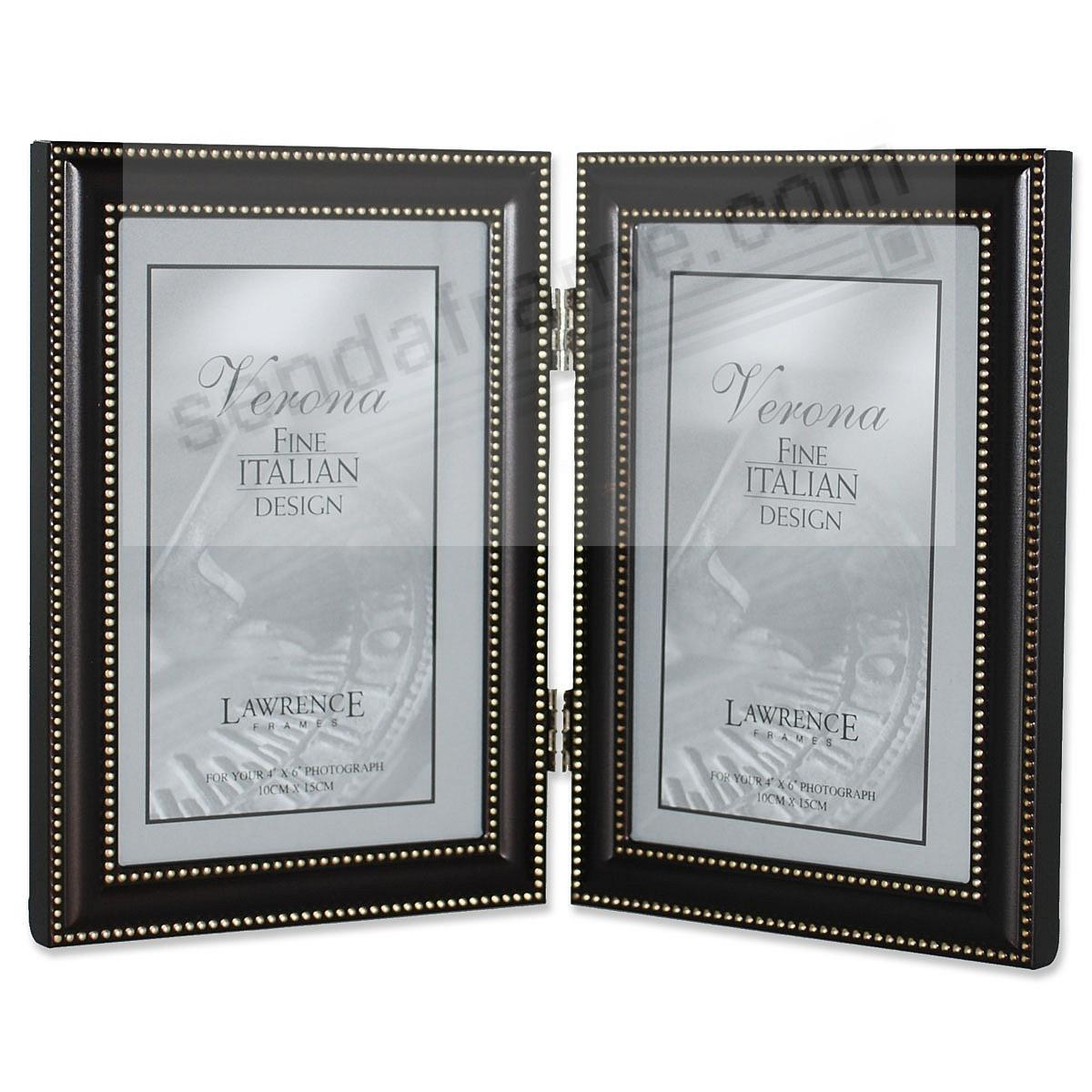 hardtofind hinged double 4x6 frame in oil rubbed bronze with beading