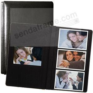TOP NOTCH fine=grain Black Leather #127 album with 3-at-a-time pages by Raika®