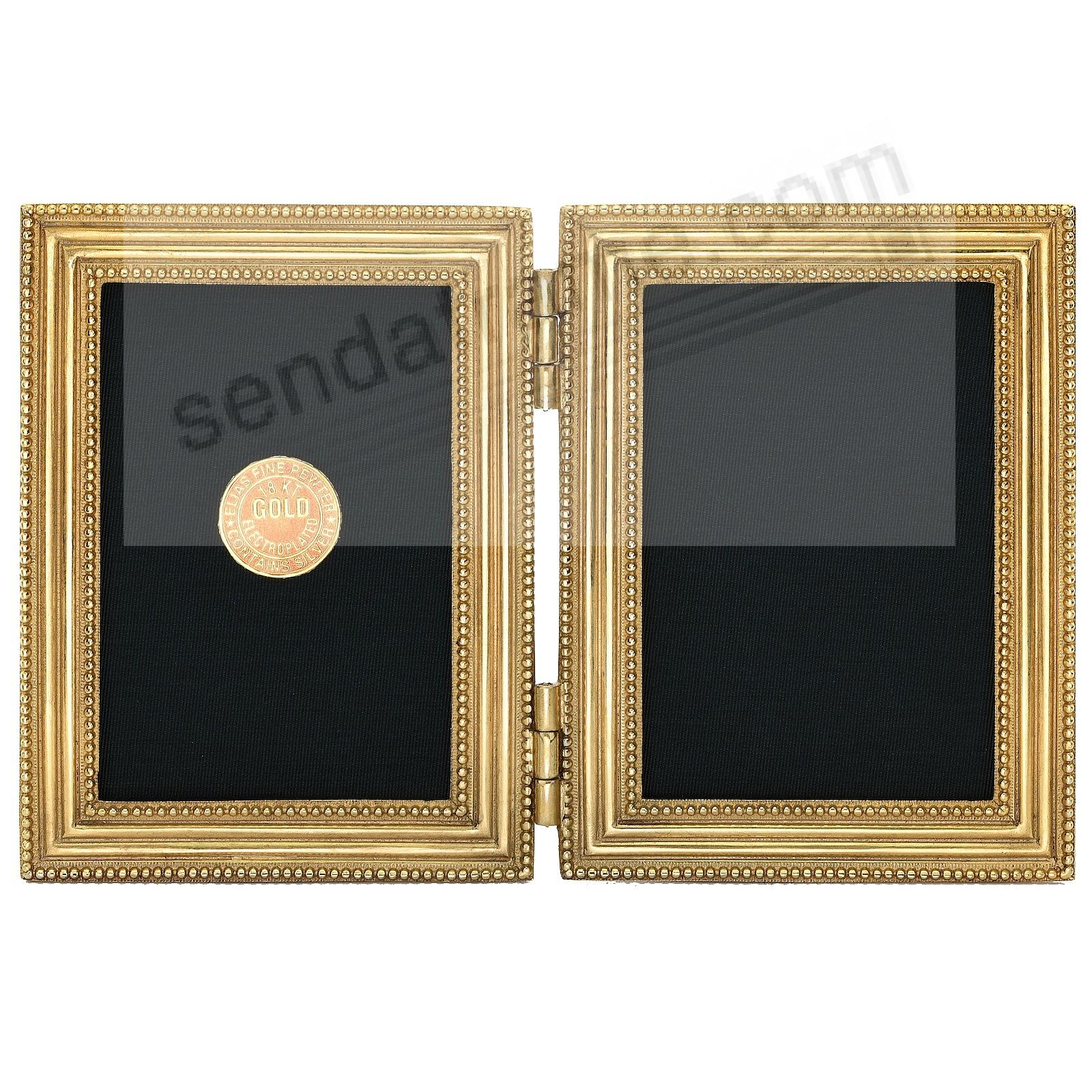 CLASSICO Museum Gold over Pewter Hinged 2½x3½ Double by Elias Artmetal®