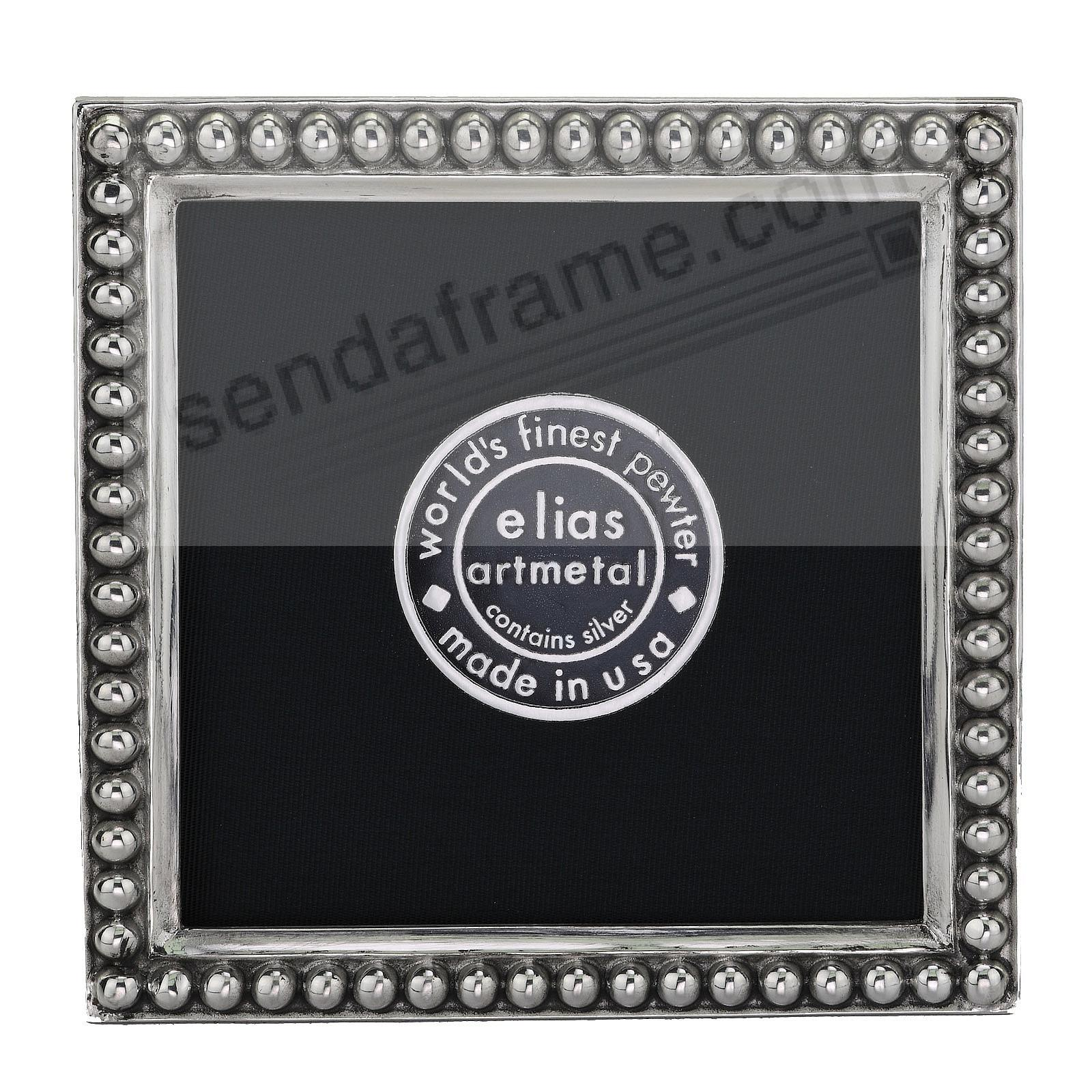 JUST BEADS Fine Pewter 3x3 frame<br>by Elias Artmetal