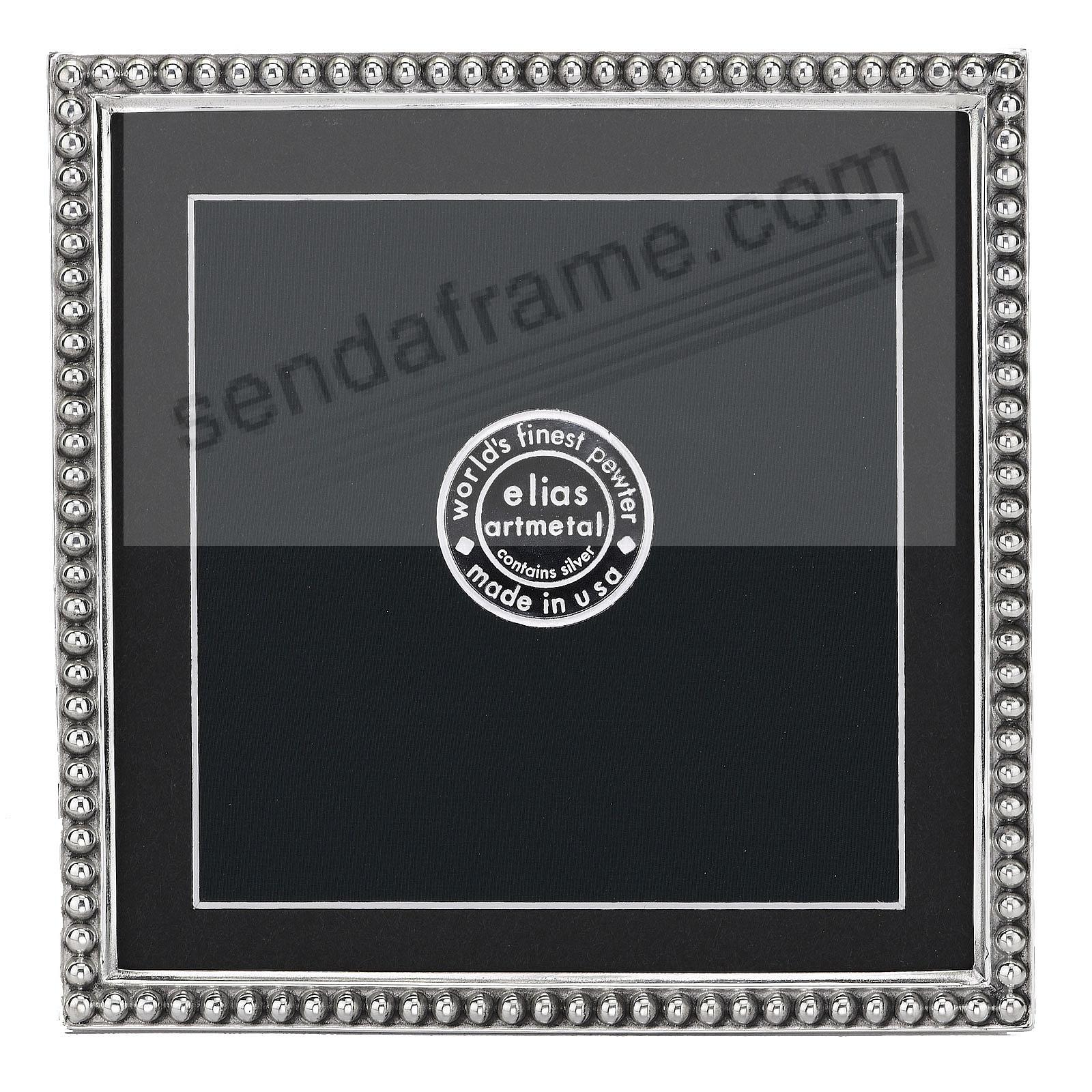 JUST BEADS Fine Pewter 5x5/4½x4½ frame by Elias Artmetal® - now in a proof size!