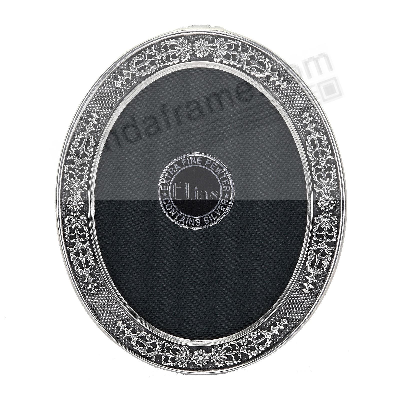 FRENCH STIPLED OVAL Fine Pewter<br>by Elias Artmetal&reg;