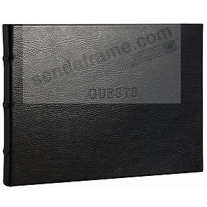Our Bound Black eco-leather Guest Book for a lasting record by Graphic Image®
