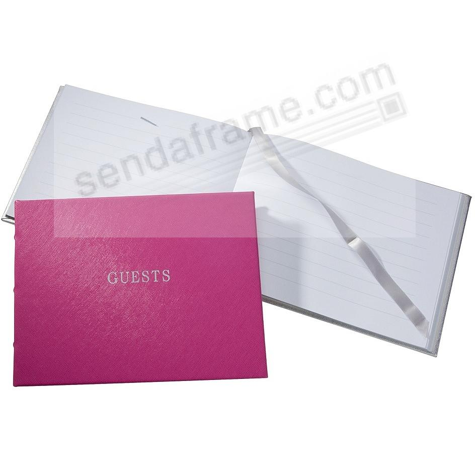 Our bound Saffiano-Pink eco-leather Guest Book for a lasting record by Graphic Image®