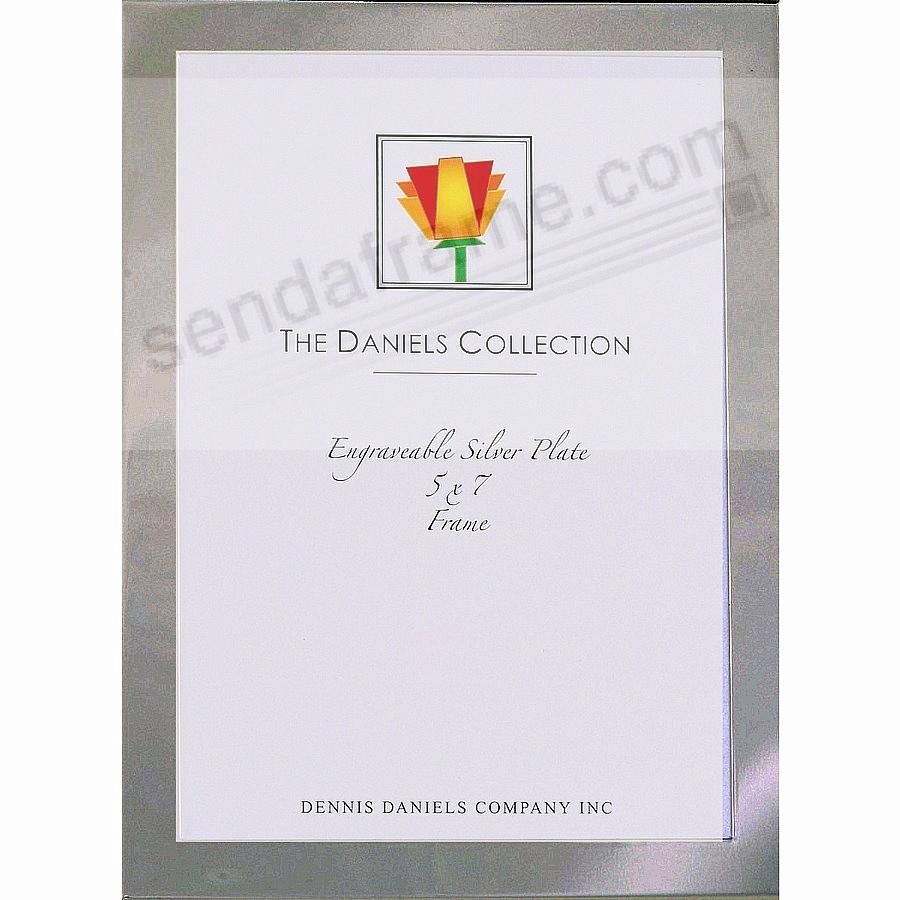 High-Polished Silverplate Engraveable 5x7 ½-inch border by Dennis Daniels®