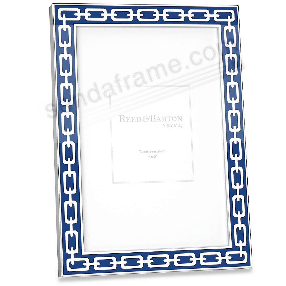 Navy-Blue Enamel SILVER LINKS by Reed & Barton® - Picture Frames ...