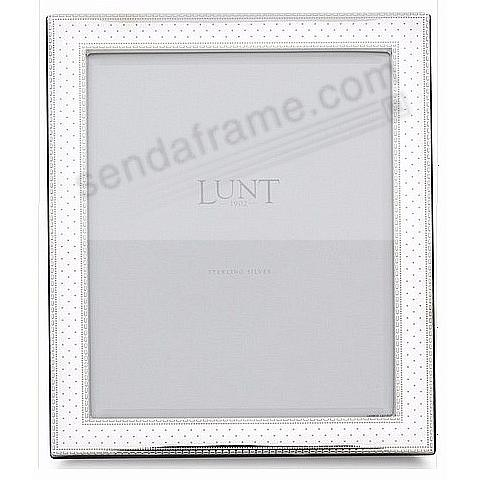 SWISS DOT fine Sterling Silver 8x10 frame by Lunt Silversmith ...