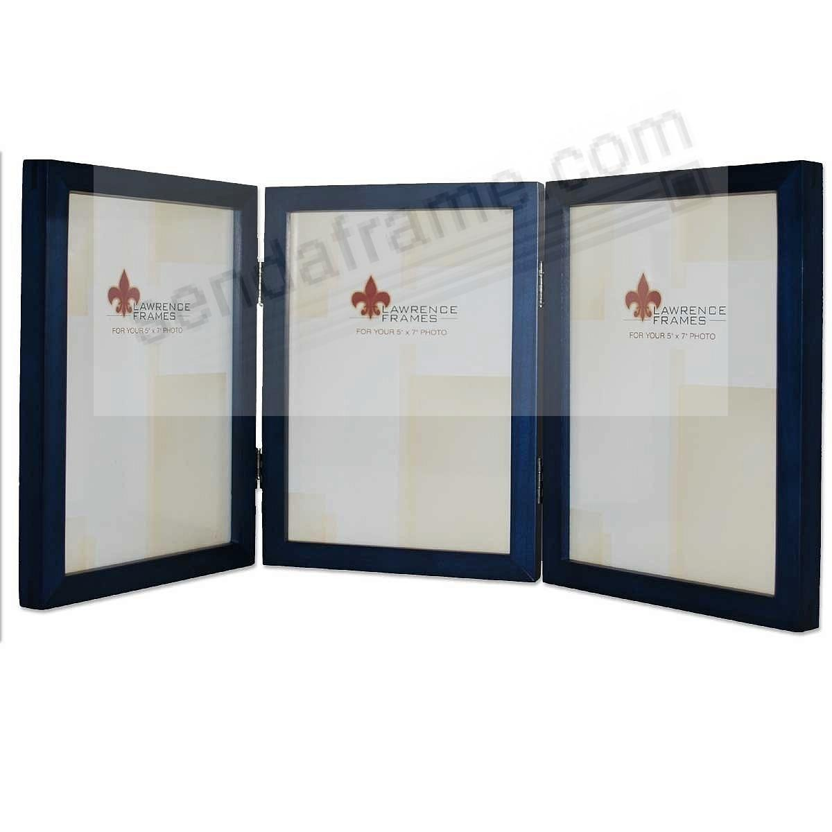 Blue hinged triple in 5x7 size by Lawrence® - Picture Frames, Photo ...