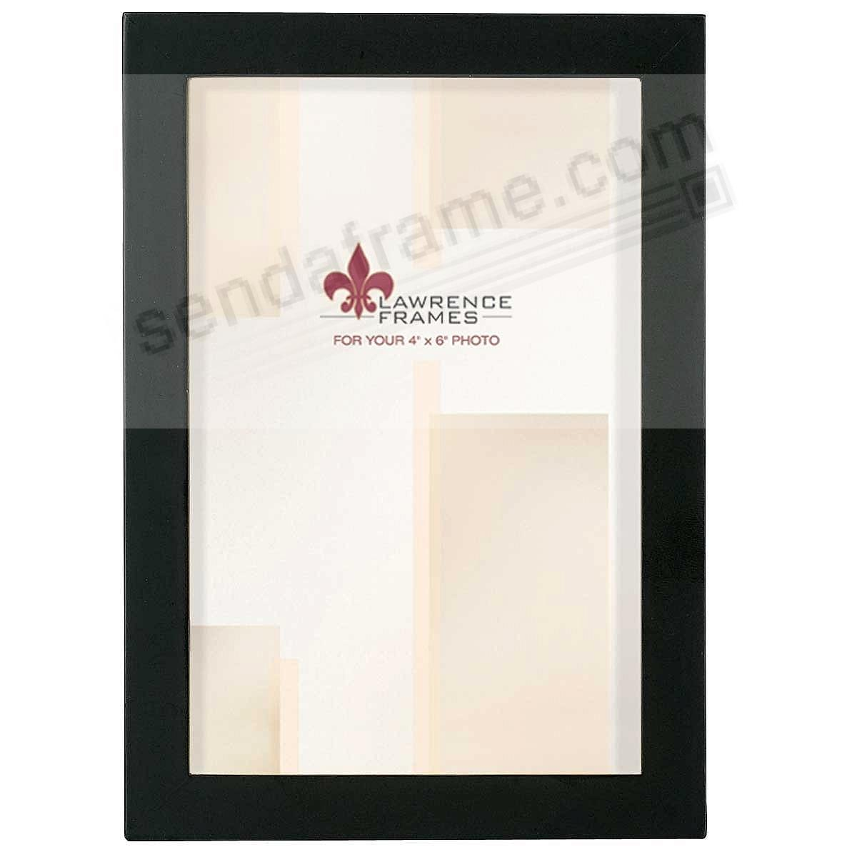 Black Square-Corner wood 4x6 frame by Lawrence®