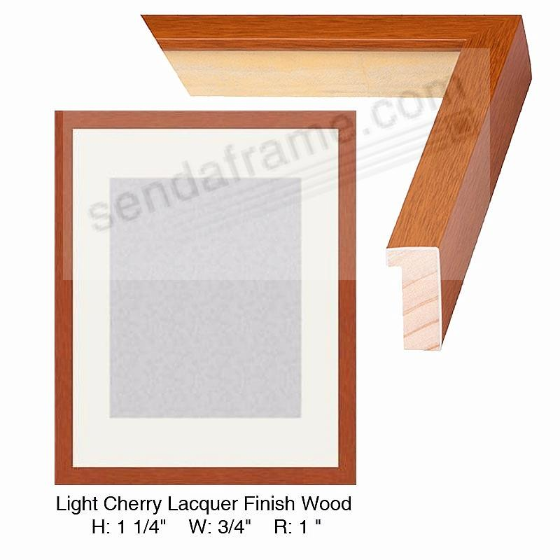Custom-Cut BASICS™ Lt Cherry Laquer Finish Wood H: 1¼in W: ¾in R: 1in