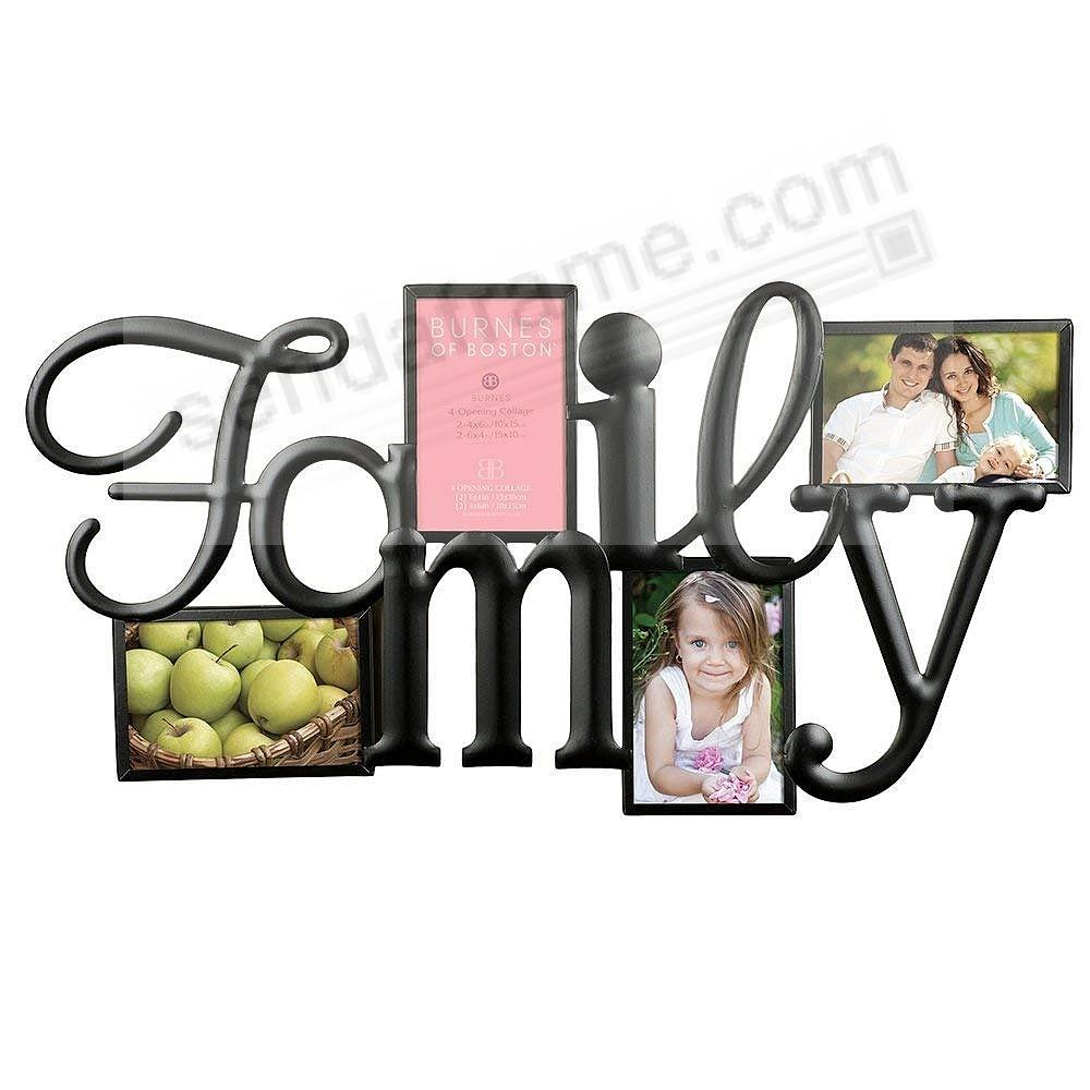 F-A-M-I-L-Y Words frame in copper wire 4-opening collage by Burnes ...