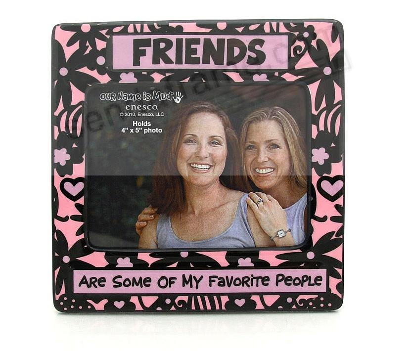 FRIENDS - ARE SOME OF MY FAVORITE PEOPLE colorful ceramic picture frame by Our Name is Mud®