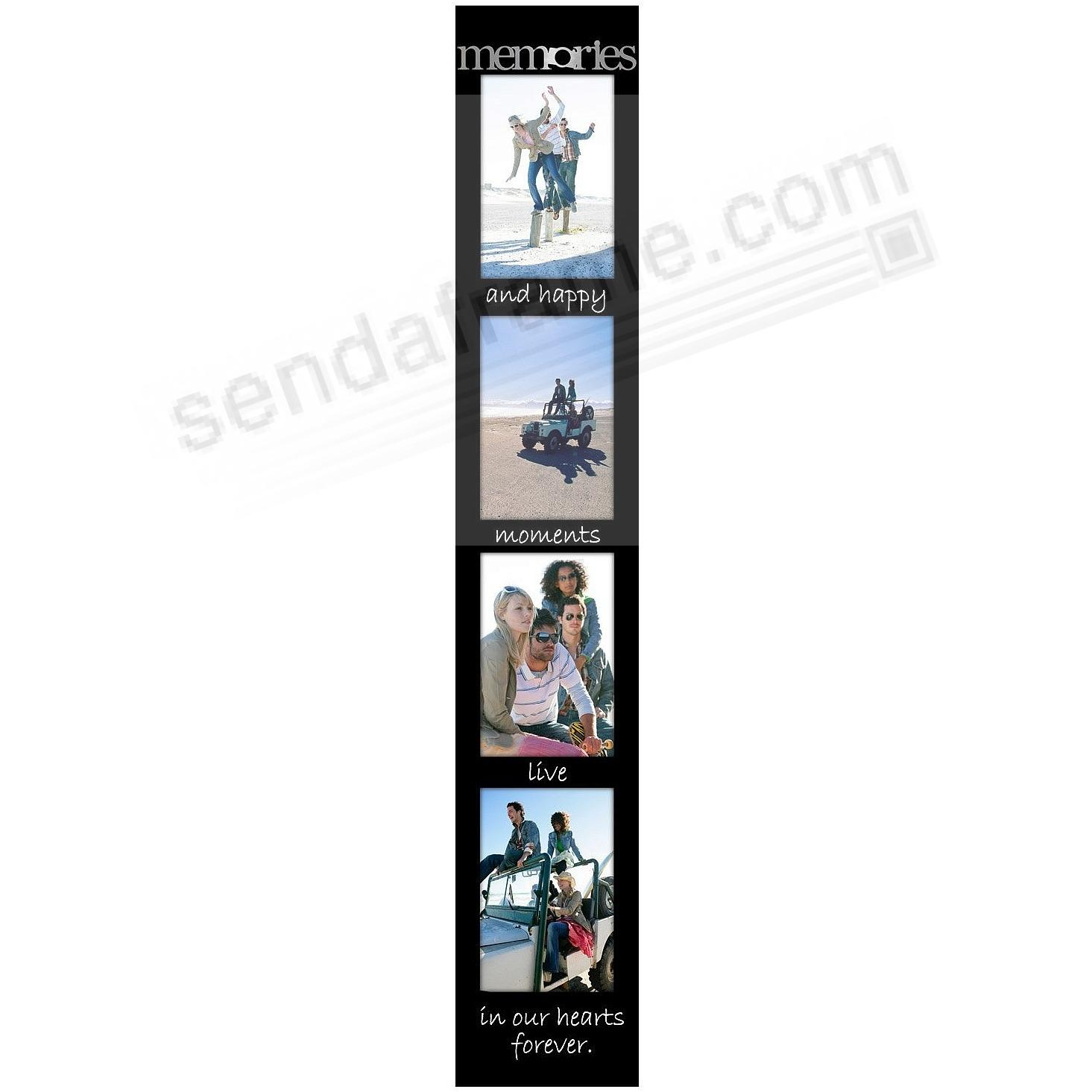 MEMORIES Memory Stick vertical collage<br>displays (4) 4''x6'' photos