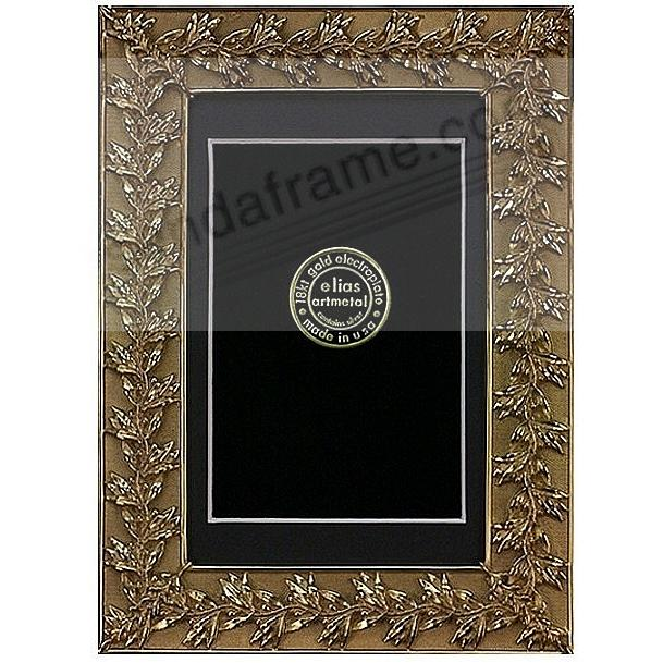 AUTUMN LEAVES 18kt gold vermeil matted 9x12/8x10 frame by Elias Artmetal®