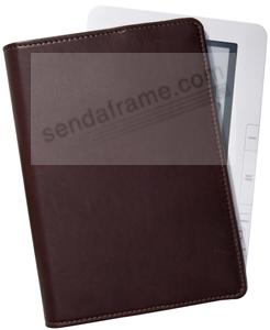 Brown Fine Leather Nook™ + Kindle™ E-Reader Carry Case by Graphic Image™