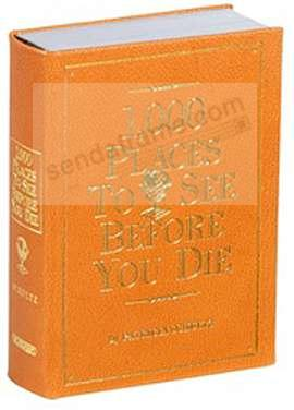 1000 PLACES TO SEE<br>BEFORE YOU DIE<br>by Patricia Schultz - special edition in Bright-Orange Leather