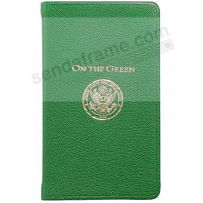 Palm Size ON THE GREEN includes Golf Rules in Brights-Green leather by Graphic Image™