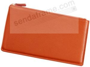 Large Flat Case 'Bright Orange' Leather by Graphic Image™