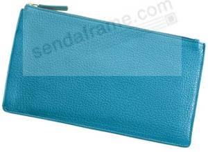 Large Flat Case BRIGHTS TURQUOISE Leather by Graphic Image™