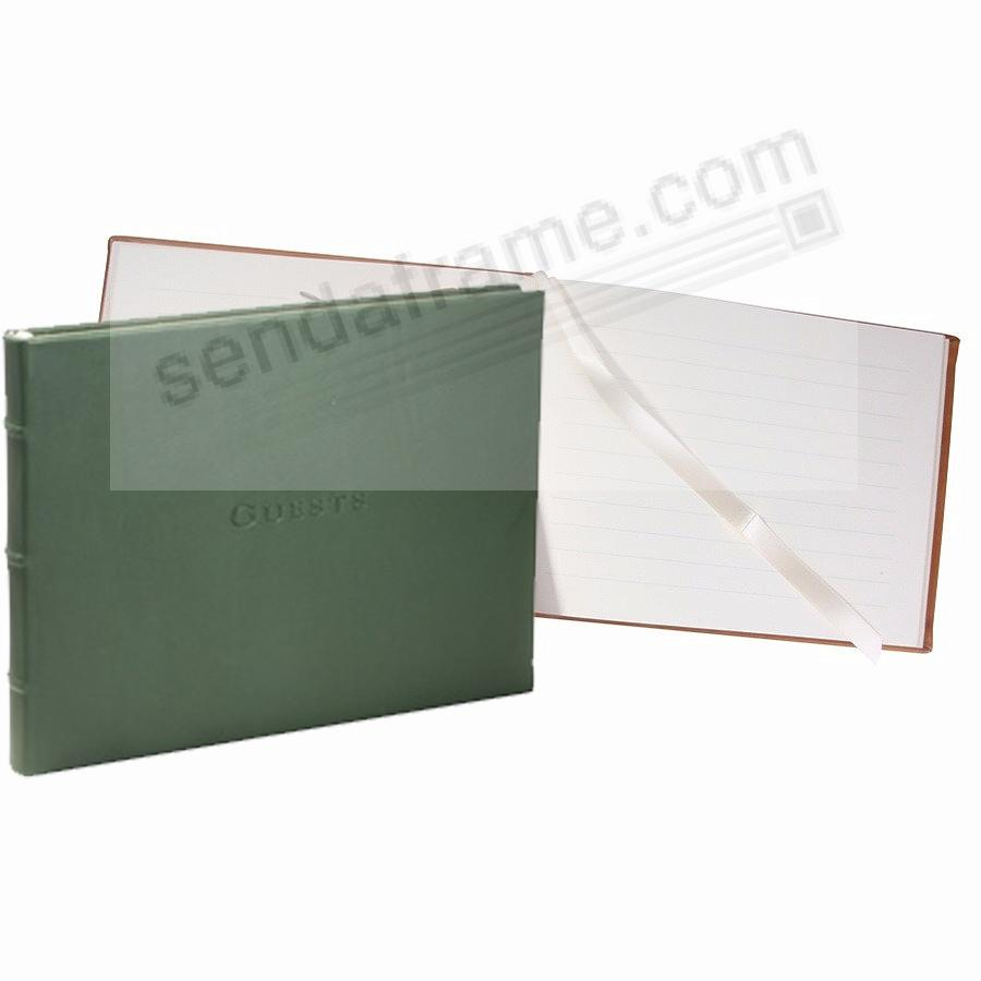 Elegant Green Calfskin Leather GUESTS for a lasting record by Graphic Image®