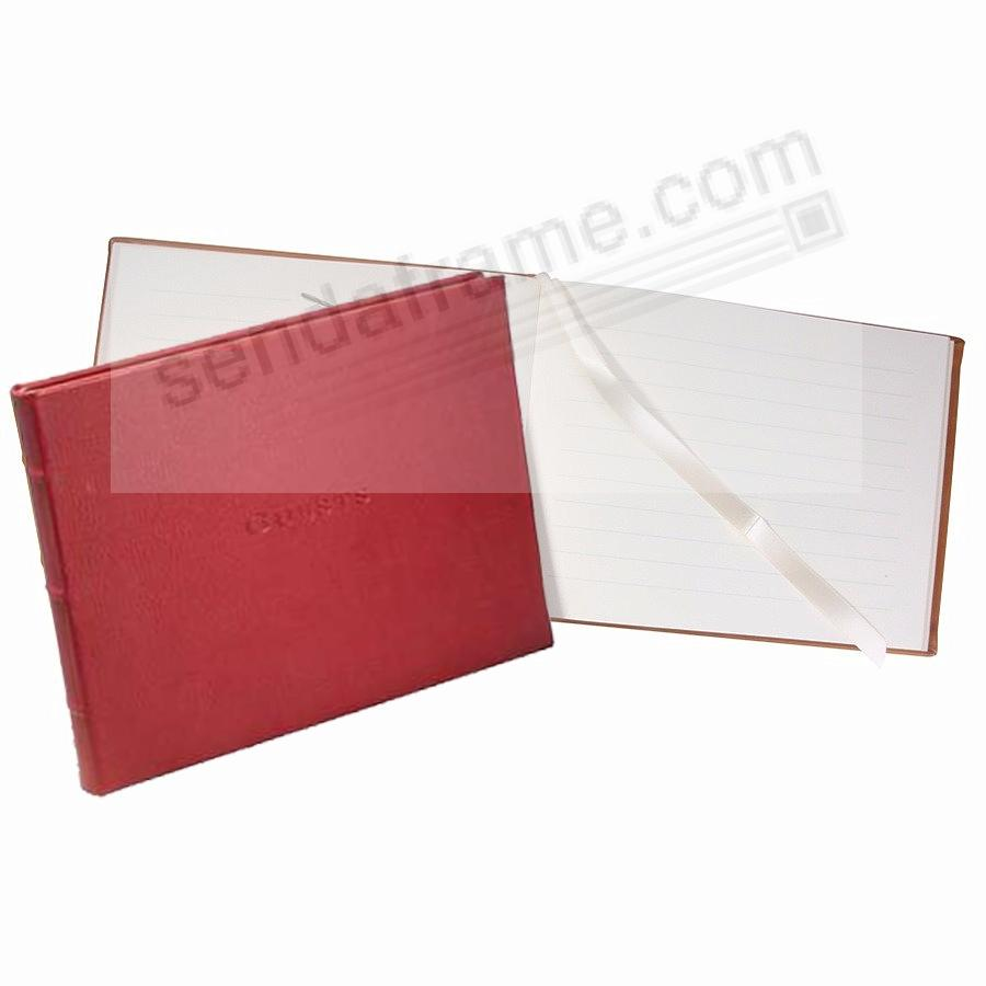 Elegant Soft Red Calfskin Leather GUESTS for a lasting record by Graphic Image®