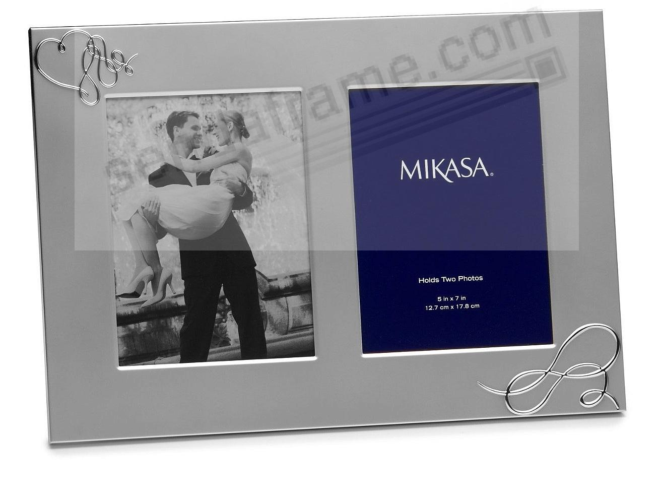 LOVE STORY DOUBLE Invitation silver frame by Mikasa - Picture Frames ...