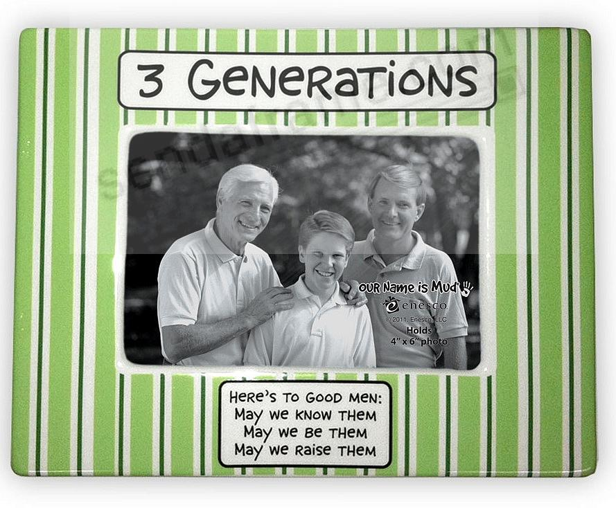 Three Generations .. of Men by Our Name is Mud® - Picture Frames ...