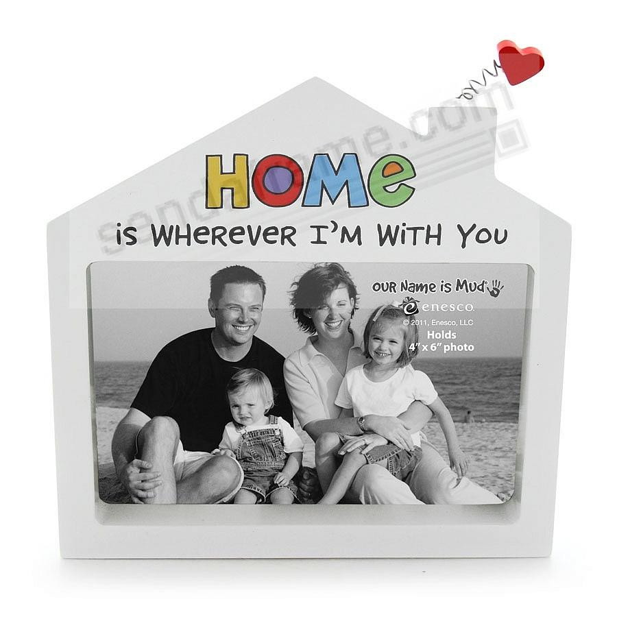 HOME IS WHEREVER I'M WITH YOU ceramic frame by Our Name is Mud®