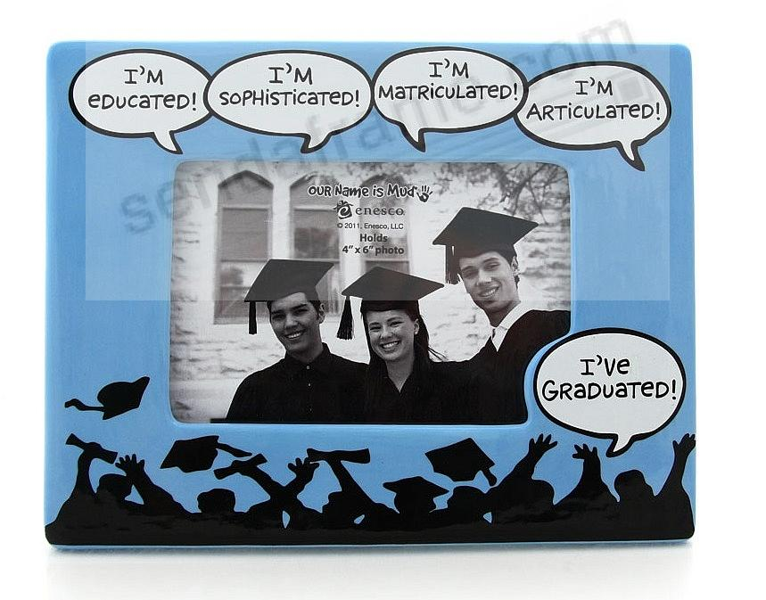 I'VE GRADUATED keepsake ceramic picture frame by Our Name is Mud®