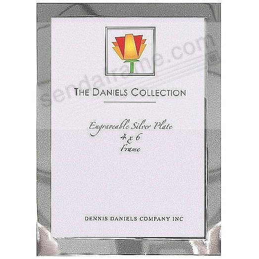 High-Polished Engraveable Silverplate ½-inch border 4x6 frame by Dennis Daniels®