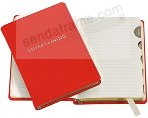 Graphic Image™ Host/Hostess ENTERTAINING BOOK JOURNAL in fine Red Leather