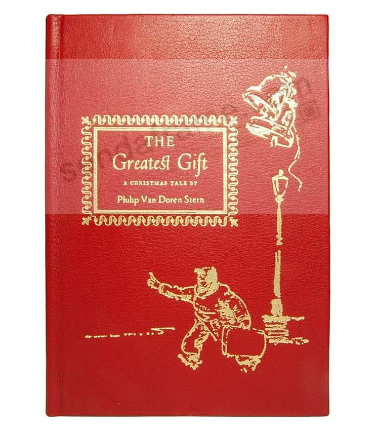 THE GREATEST GIFT<br>by Philip Van Doren Stern<br>LIMITED EDITION RED reproduction by Graphic Image&trade;