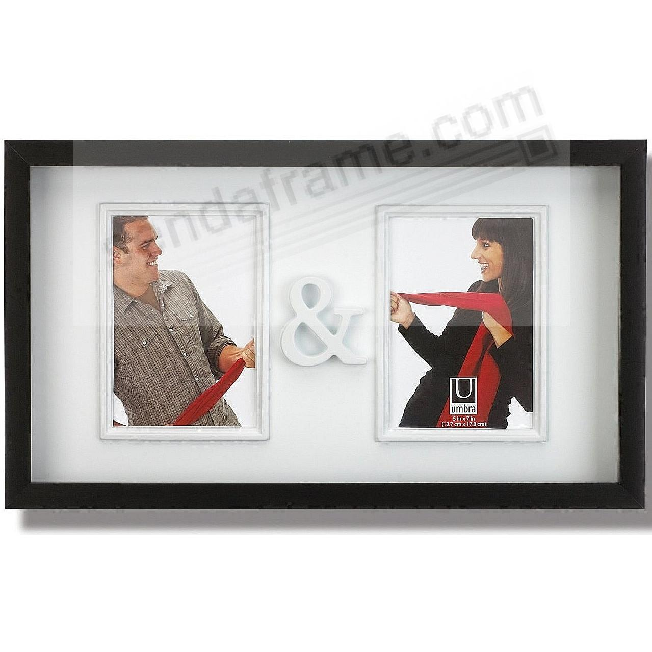 YOU & ME double black frame for your 5x7 prints by Umbra® - Picture ...