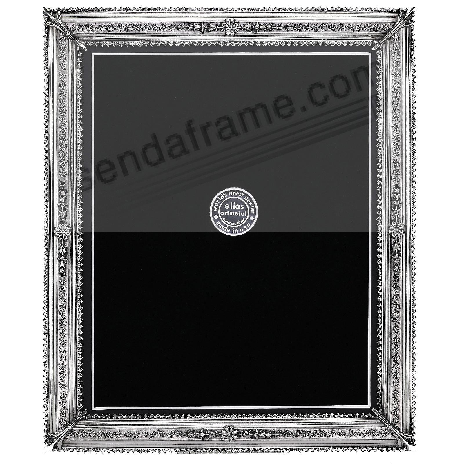 ROYALE fine silvered Pewter 8x10/7x9 frame by Elias Artmetal® in fine silvered pewter