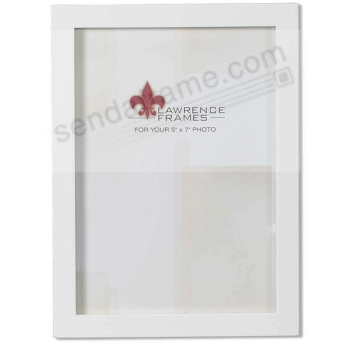 White square-corner 5x7 frame by Lawrence®