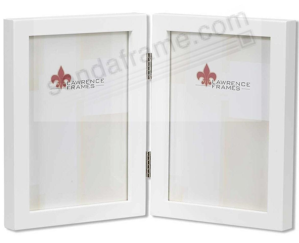 New white hinged double in 5x7 size by Lawrence®