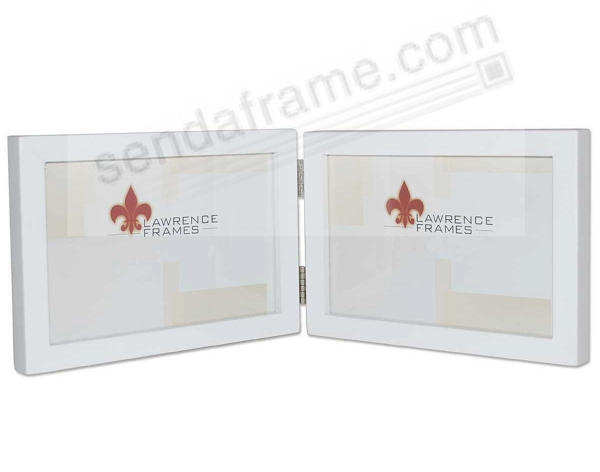 WHITE hinged double in 7x5 size by Lawrence® - now in landscape ...