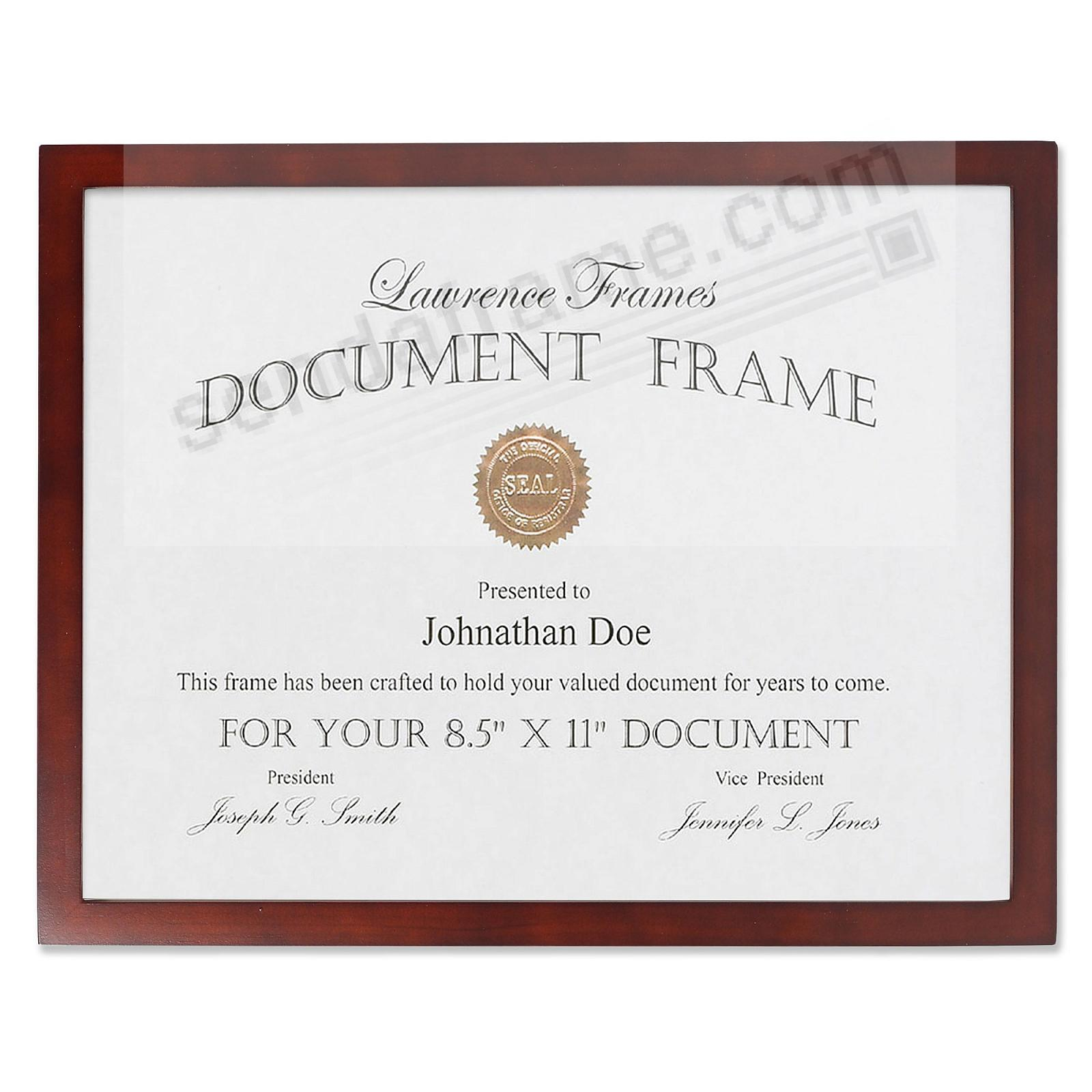 ESPRESSO-Brown Square-Corner certificate frame by Lawrence®