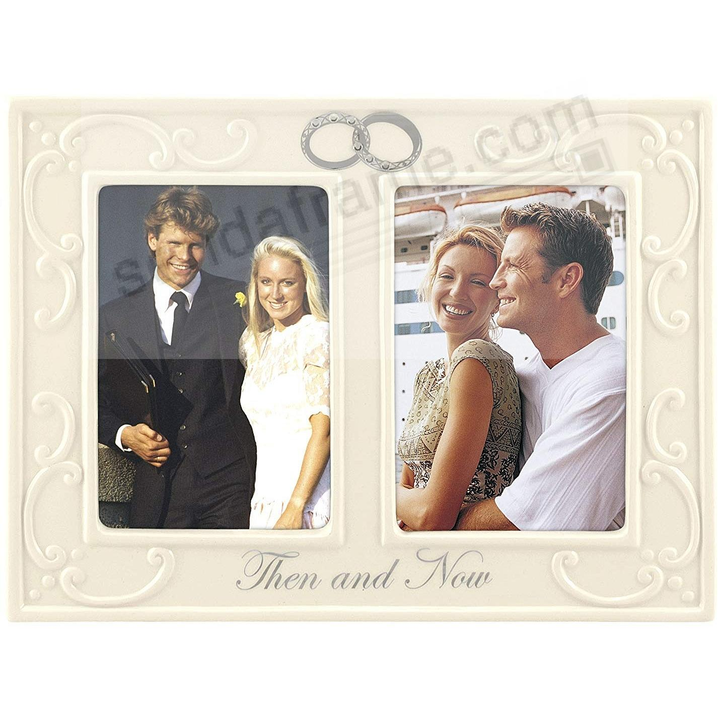 DOUBLE INTERLOCKING RINGS THEN AND NOW Anniversary frame by Malden ...