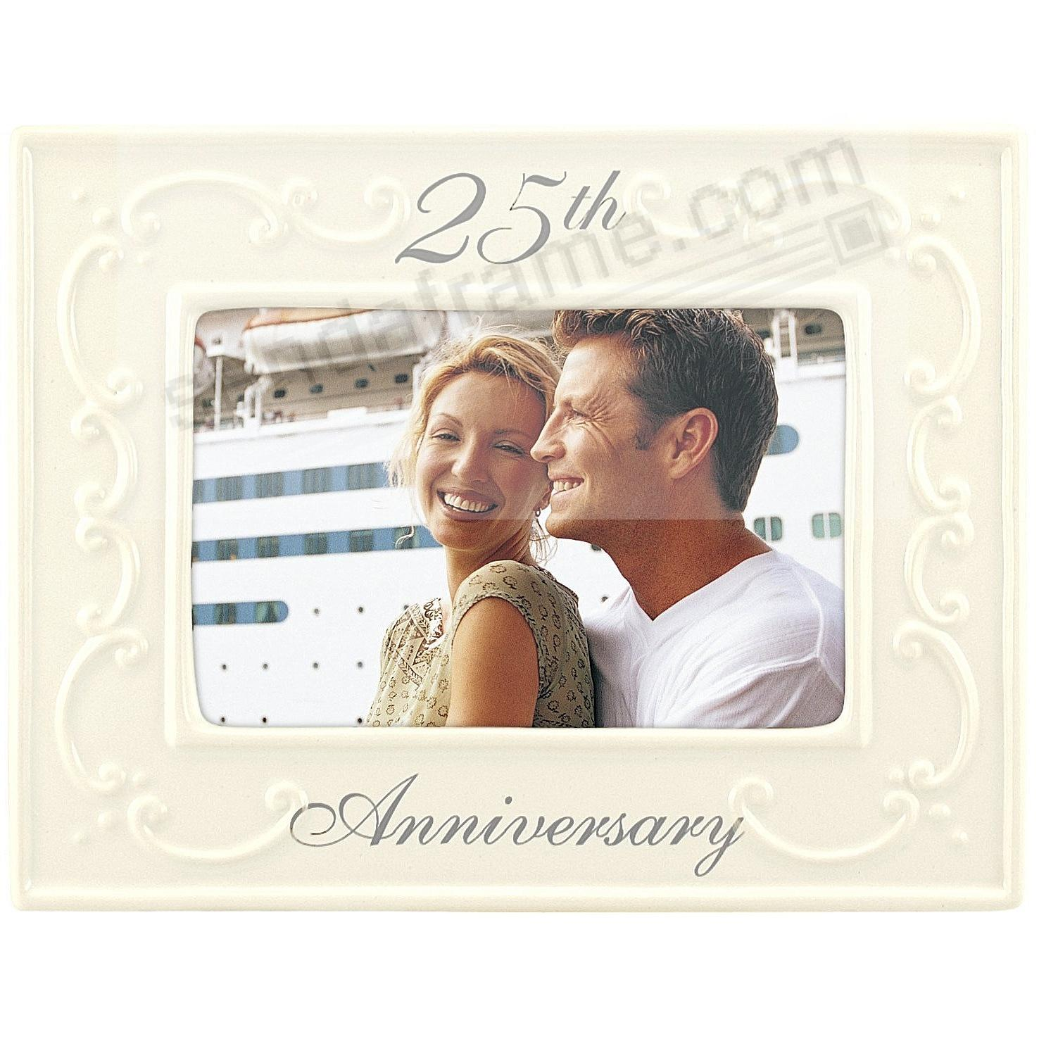 25TH ANNIVERSARY ceramic frame by Malden® - Picture Frames, Photo ...