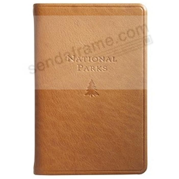 NATIONAL PARKS Pocket Reference Guide in Traditional British-Tan Leather