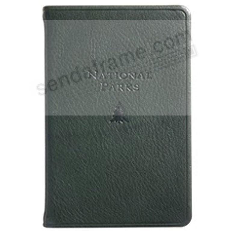 NATIONAL PARKS Pocket Reference Guide in Traditional Forest-Green Leather