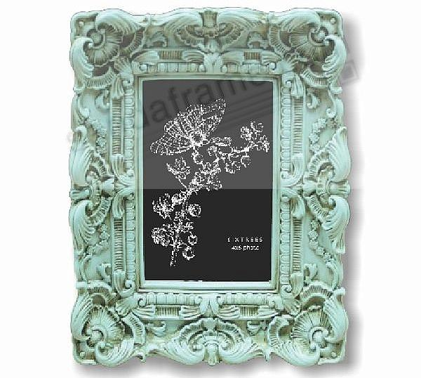 DISTRESSED TURQUOISE BAROQUE frame by SIXTREES - Picture Frames ...