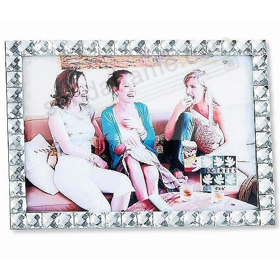 WHITE JEWELS Single Row crystal frame by Sixtrees®