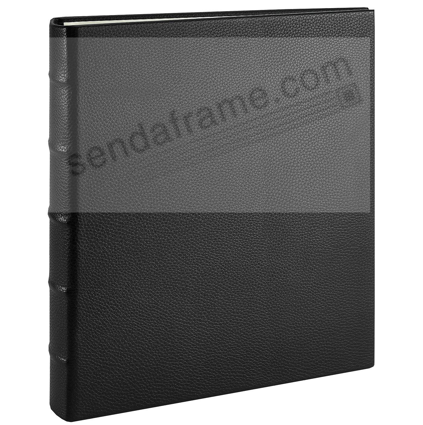 Post Impressions™ System standard 3-ring Black Pebble-Grain Eco-Leather binder (unfilled)