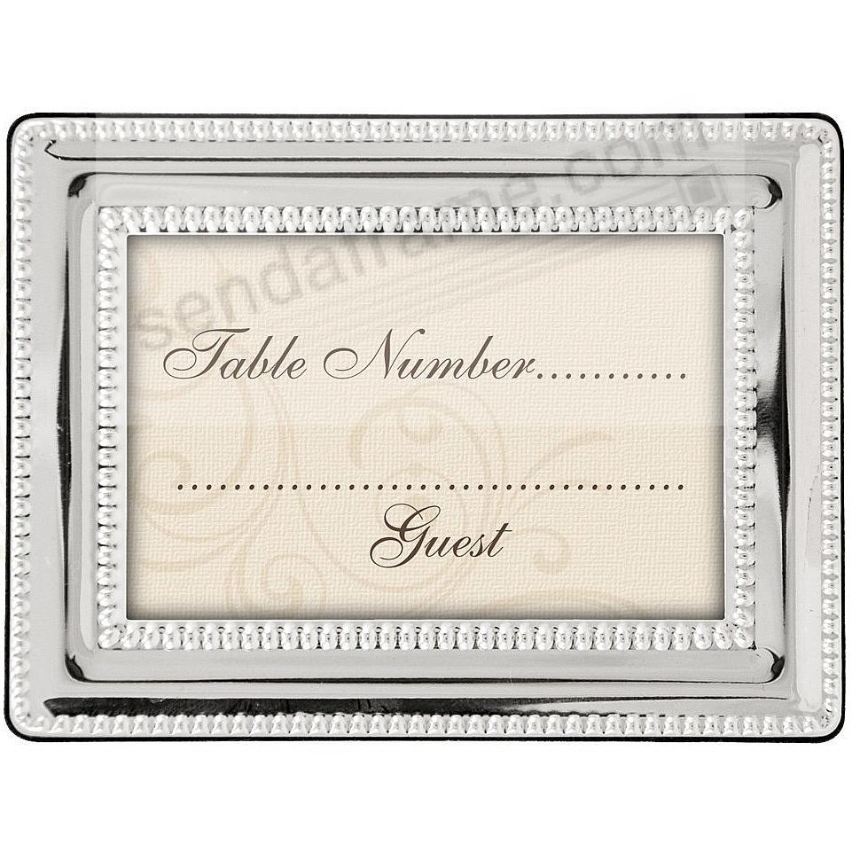 Double Bead + polished silverplate mini-frames by Malden