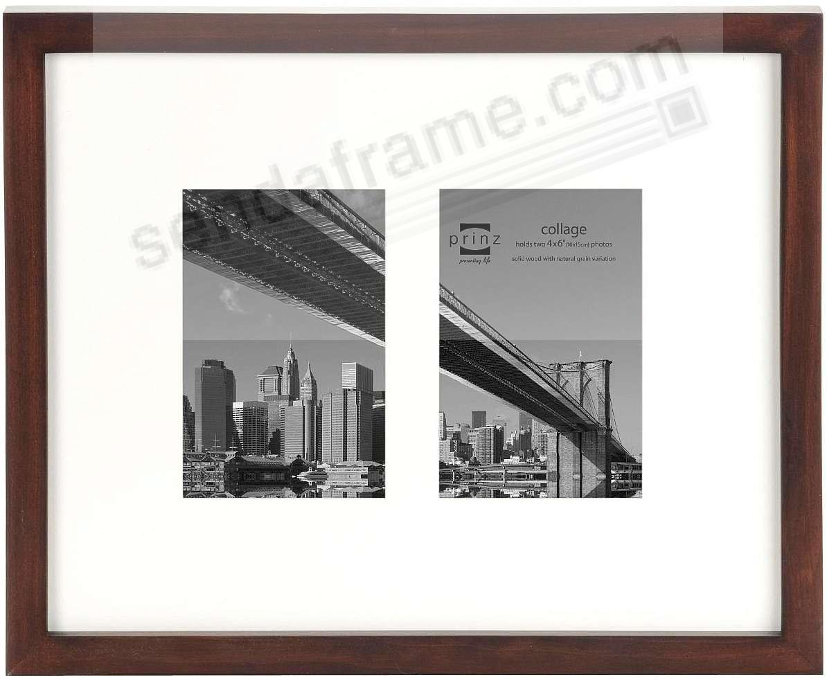 AVENIR STANDARD Espresso pine gallery frame with Double-Opening ...